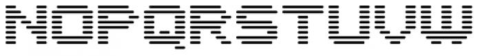 Interlace Single Font UPPERCASE