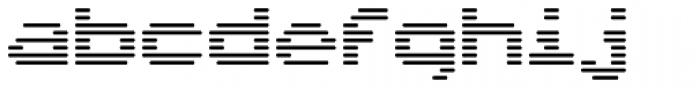 Interlace Single Font LOWERCASE
