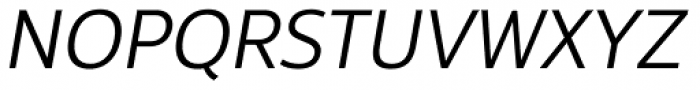 Interval Next Book Italic Font UPPERCASE