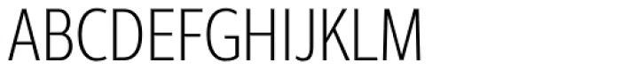 Interval Next Condensed Light Font UPPERCASE