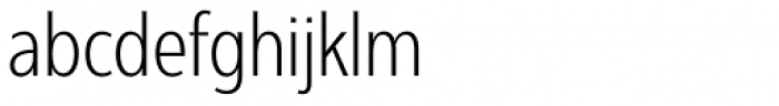 Interval Next Condensed Light Font LOWERCASE
