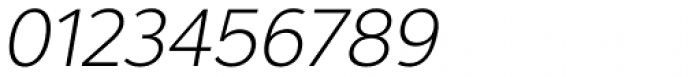 Interval Next Light Italic Font OTHER CHARS