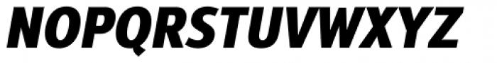 Interval Next Narrow Black Italic Font UPPERCASE