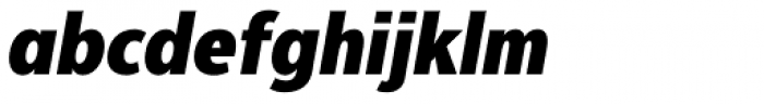 Interval Next Narrow Black Italic Font LOWERCASE