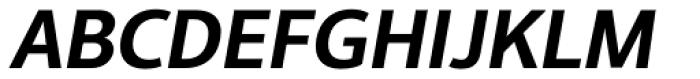 Interval Next Semi Bold Italic Font UPPERCASE