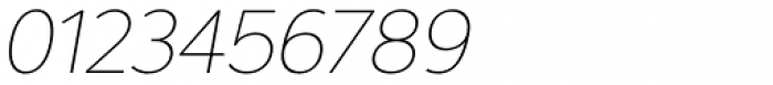 Interval Next Ultra Light Italic Font OTHER CHARS