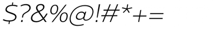 Interval Next Wide Light Italic Font OTHER CHARS