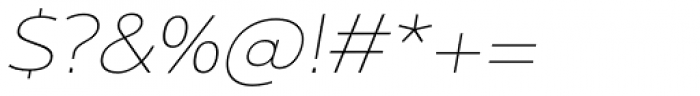Interval Next Wide Ultra Light Italic Font OTHER CHARS