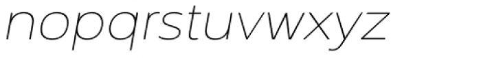 Interval Next Wide Ultra Light Italic Font LOWERCASE