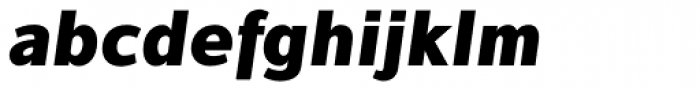 Interval Sans Pro Black Italic Font LOWERCASE