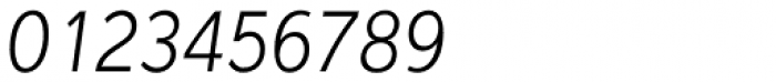 Interval Sans Pro Cond Light Italic Font OTHER CHARS