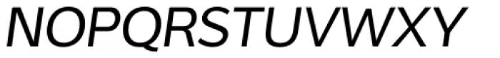Interval Sans Pro Italic Font UPPERCASE