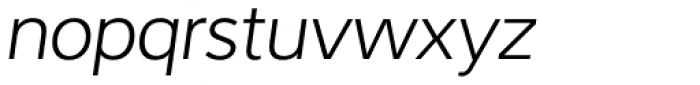 Interval Sans Pro Light Italic Font LOWERCASE