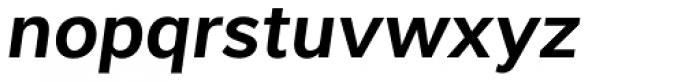 Interval Sans Pro SemiBold Italic Font LOWERCASE