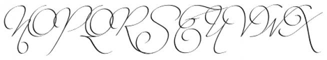 Intima Script Three Font UPPERCASE