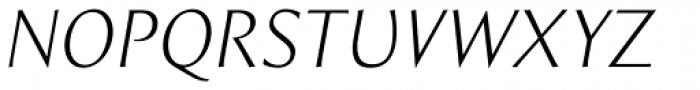 Intrinseca Light Italic Font UPPERCASE