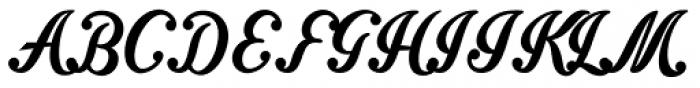 Intrique Script Font UPPERCASE