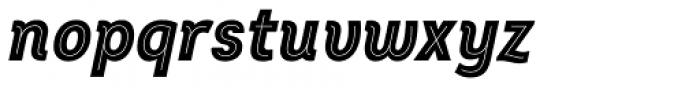Intro Cond Black Inline Italic Font LOWERCASE