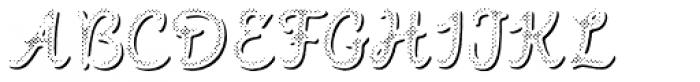 Intro Script B H1 Shade Font UPPERCASE
