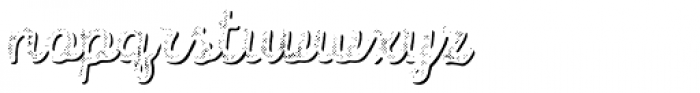 Intro Script B H2 Shade Font LOWERCASE