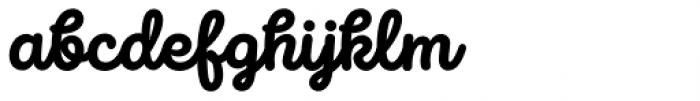 Intro Script Heavy Font LOWERCASE