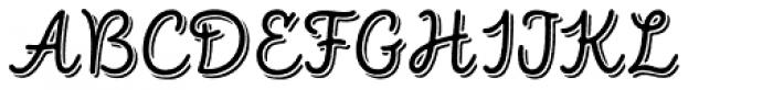 Intro Script R Base Shade Font UPPERCASE