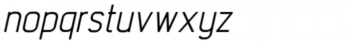 Intropol Italic Font LOWERCASE