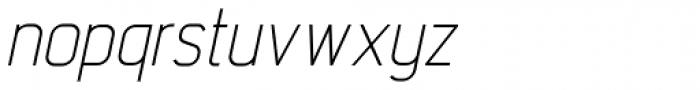 Intropol Light Italic Font LOWERCASE