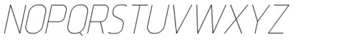 Intropol Thin Italic Font UPPERCASE