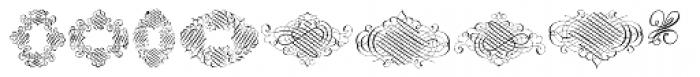 Invitation Script Ornaments Font LOWERCASE