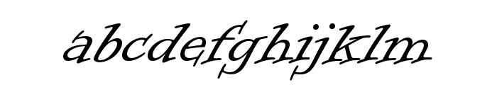 Informal Roman Font LOWERCASE