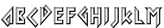 Iomanoid Font UPPERCASE