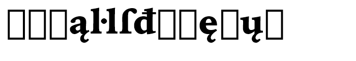 Iowan Old Style BT Black Extension Font LOWERCASE