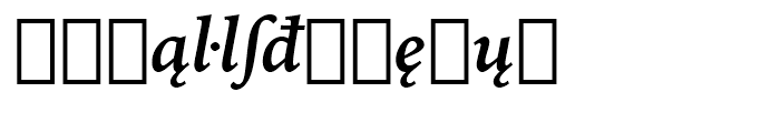 Iowan Old Style BT Bold Italic Extension Font LOWERCASE