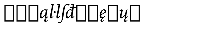 Iowan Old Style BT Italic Extension Font LOWERCASE