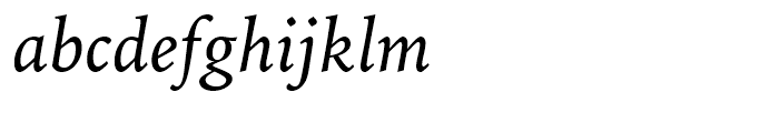 Iowan Old Style BT Italic OSF Font LOWERCASE