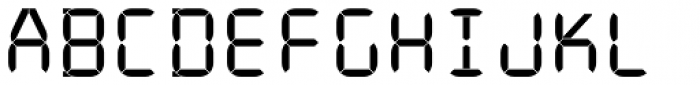 ION C Regular Font UPPERCASE