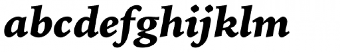 Iowan Old Style BT Black Italic Font LOWERCASE