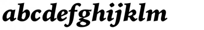 Iowan Old Style Pro Black Italic Font LOWERCASE