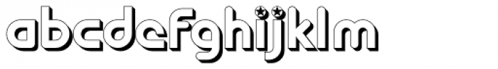 Ipoint Star 3-D Font LOWERCASE