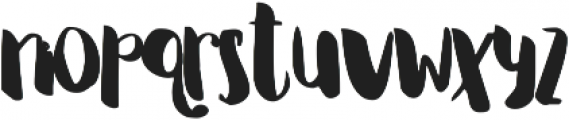 Irian ttf (400) Font LOWERCASE