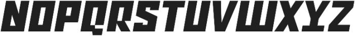 Ironfield CF Black Oblique otf (900) Font UPPERCASE