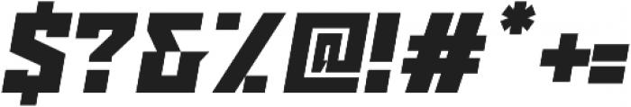Ironfield CF Black Oblique ttf (900) Font OTHER CHARS