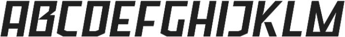 Ironfield CF Bold Oblique otf (700) Font UPPERCASE