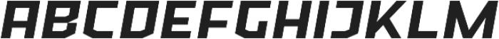 Ironfield CF Bold Oblique otf (700) Font LOWERCASE