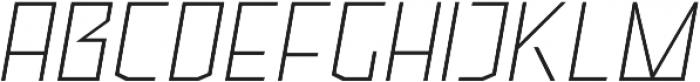 Ironfield CF Thin Oblique otf (100) Font UPPERCASE
