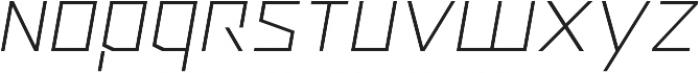 Ironfield CF Thin Oblique otf (100) Font LOWERCASE