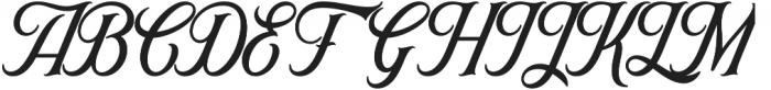 Ironhead Script otf (400) Font UPPERCASE