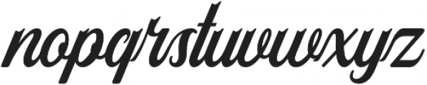 Ironhead Script otf (400) Font LOWERCASE