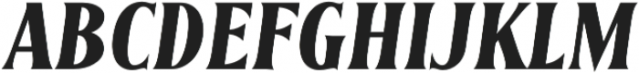 Irreverent Bold Italic otf (700) Font UPPERCASE